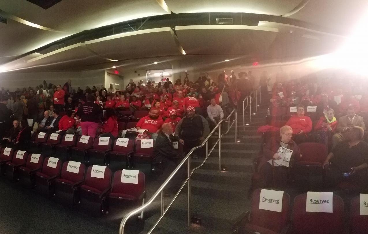 CWA Packs Sweeney Townhall at Camden County College